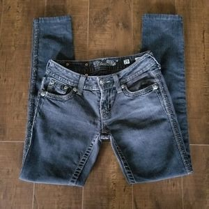 Miss Me Skinny Stretch Black Jeans Size 25